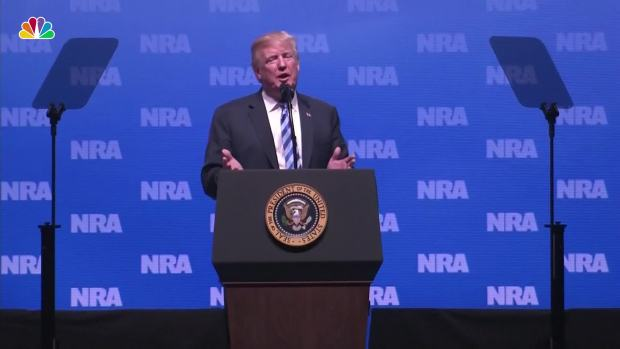 """[NATL] Trump at NRA Thanks Kanye, Says Mueller Probe a """"Witch Hunt"""""""