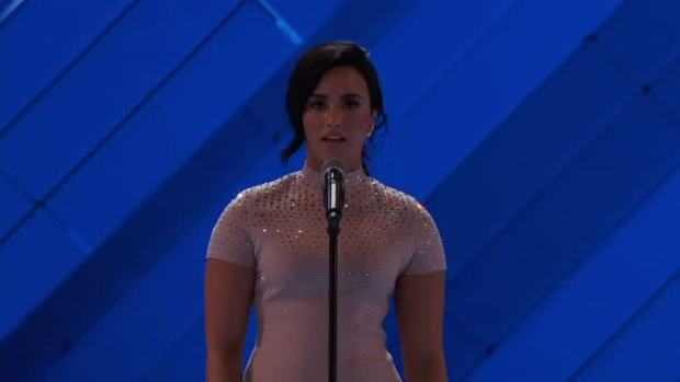 [NATL] Demi Lovato Talks Mental Health at 2016 Democratic National Convention