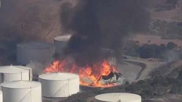 Fire at Refinery in Contra Costa County