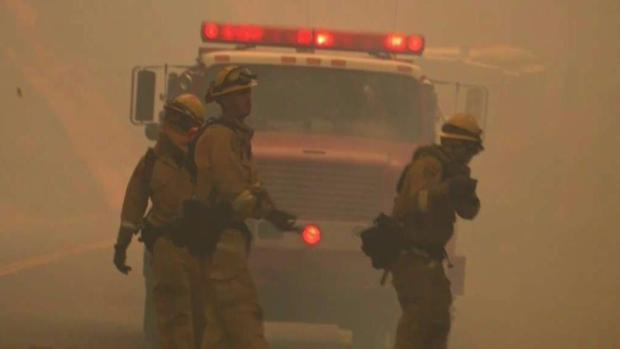 Firefighters Battle Flames and Fatigue
