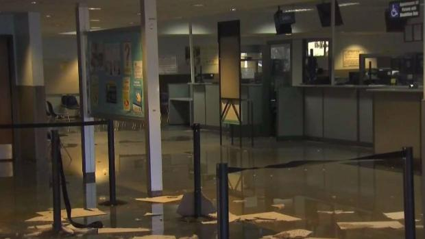 [BAY ML 11A VO ONLY] Flooding Forces Closure of Oakland Coliseum DMV Office