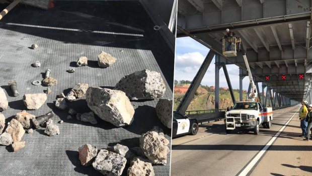 [BAY]Photos: Fist-Sized Chunks of Concrete Fall From Richmond-San Rafael Bridge