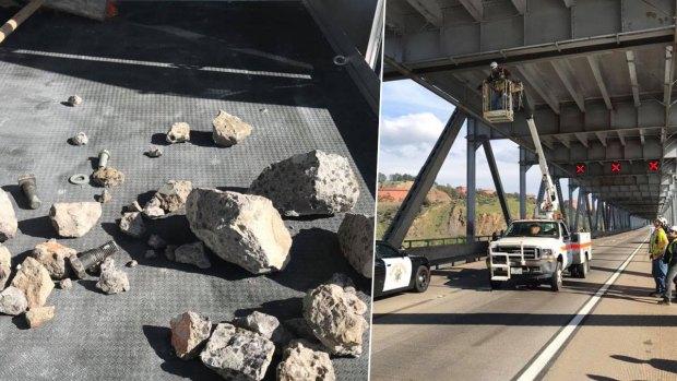 Photos: Concrete Chunks Fall From Richmond-San Rafael Bridge