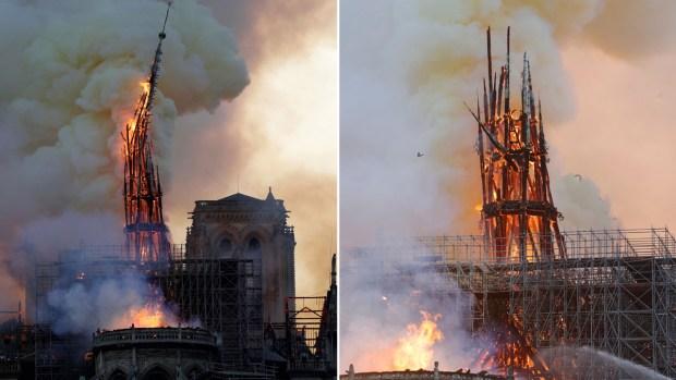 [NATL] Landmark Notre Dame Cathedral Burns in Paris
