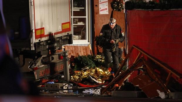 [NATL] Truck Kills 12, Injures Dozens at Berlin Christmas Market