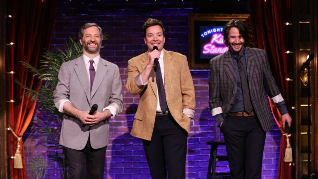 'Tonight Show': Kid Stand-Up With Keanu Reeves