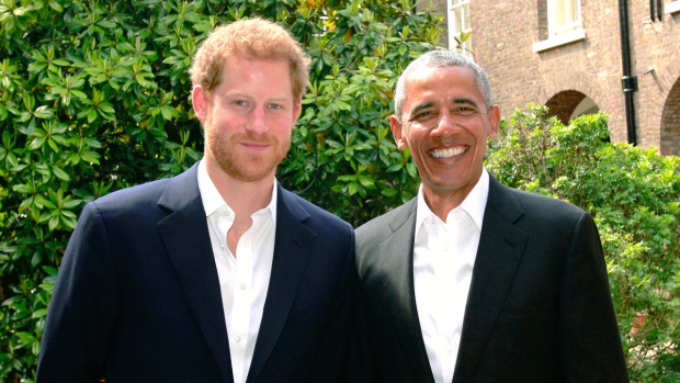 Royal Family Photos: Prince Harry With Barack Obama