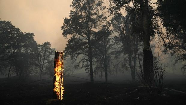 Detwiler Fire Scorches Terrain Near Yosemite