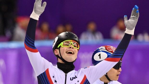 Feb. 17 Olympics Photos: Krueger Wins Silver in Speedskating