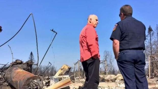 Governor Brown Tours Wildfire Affected Areas in Santa Rosa
