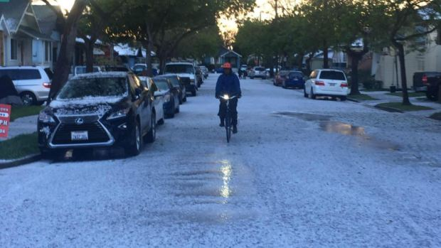 Spring Storm Pelts Bay Area Neighborhoods With Hail
