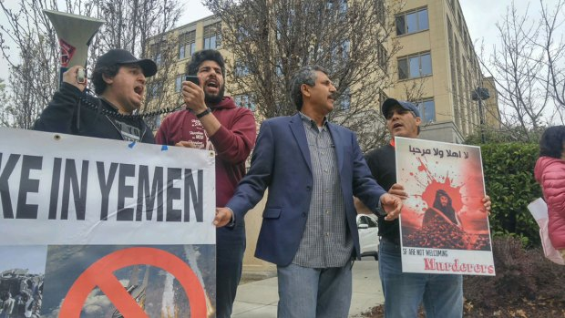 PHOTOS: Pro-Yemen Group Protests Saudi Prince in Bay Area