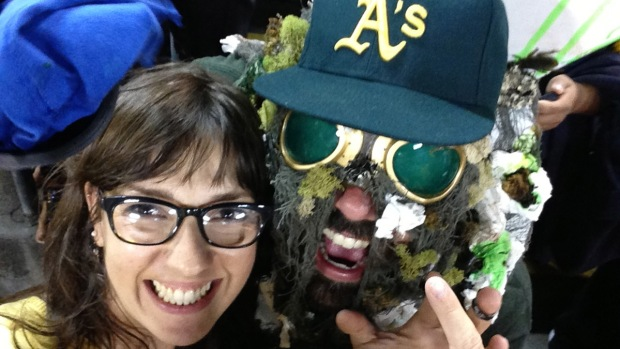 "Oakland A's Fan Dresses as ""Coliseum Sewage"""
