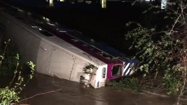 Raw Footage of Altamont Train Derailment