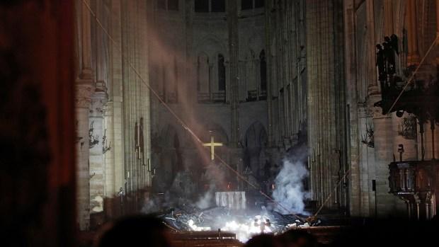 [NATL] Photos: Inside Notre Dame After Devastating Fire