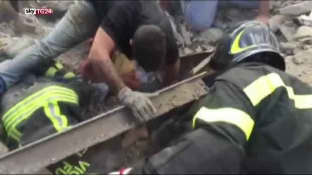 [NATL] Italian Girl, 10, Rescued From Earthquake Rubble