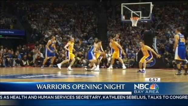 [BAY] Oracle Arena Gets Ready for Warriors Home Opener