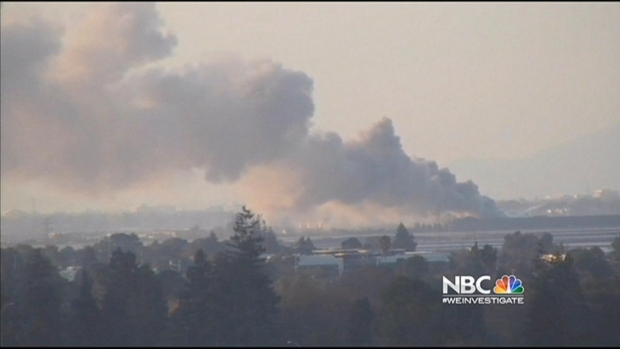 [BAY] Metal Debris Fire Continues to Burn in Redwood City