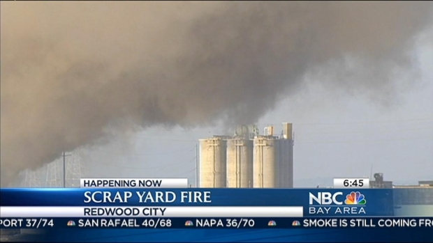 [BAY] Scrap Yard Fire Put Out; Shelter-In-Place Alert Lifted