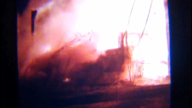 [BAY] RAW VIDEO: Fiery Vehicle Crash into Pole Near Graton Casino