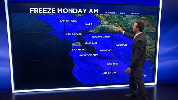 [BAY] Freeze Warning Continues in Bay Area Through Monday