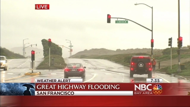 [BAY] SB Great Highway in San Francisco Closed Due to Flooding
