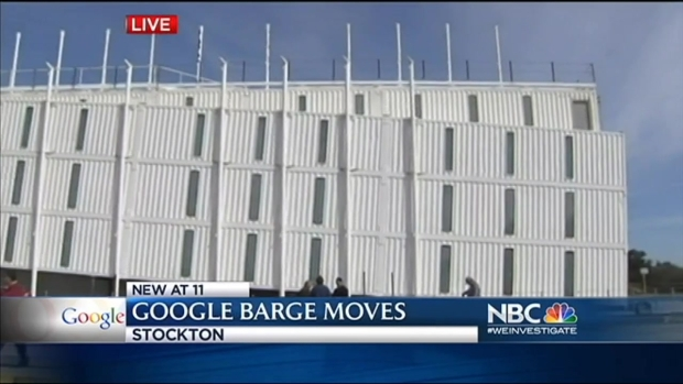 "[BAY] Google Barge Now Docked in ""Asparagus"" Country in Stockton"