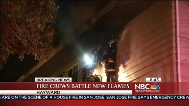 [BAY] Toddler Thrown to Safety During Hayward Apartment Fire