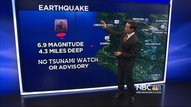 [BAY] 6.9 Earthquake Hits off Calif. Coast Near Eureka