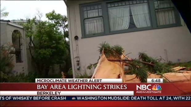 [BAY] Berkeley Residents Clean Up After Trees Explode With Lightning Strikes