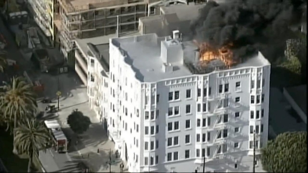[BAY] RAW VIDEO: San Francisco Building Fire
