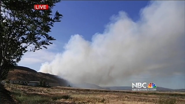 [BAY] 2-Alarm Fire Burns at Landfill in North San Jose