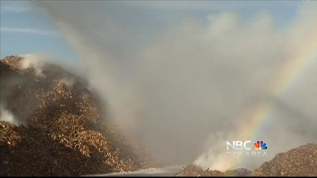 [BAY] 2-Alarm Fire Contained at Landfill in North San Jose