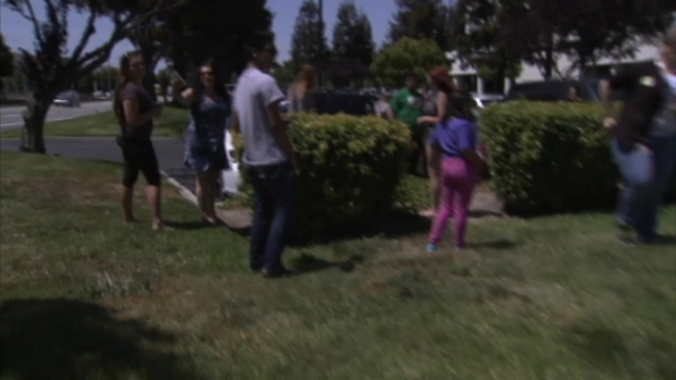 "[BAY] RAW VIDEO: ""HiddenCash"" Seekers Outside NBC Bay Area's San Jose Studio"