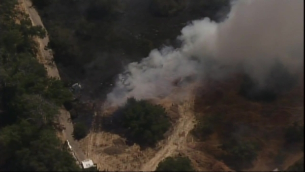 [BAY] Raw Video: San Jose Brush Fire Burning Near Happy Hollow Park and Zoo