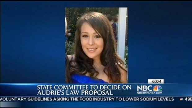 [BAY] Assembly Public Safety Committee to Decide on Audrey's Law