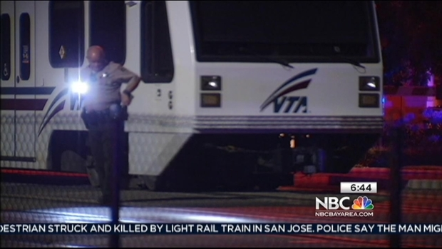 [BAY] Candle, Flowers for Man Killed by VTA Train Walking Dog