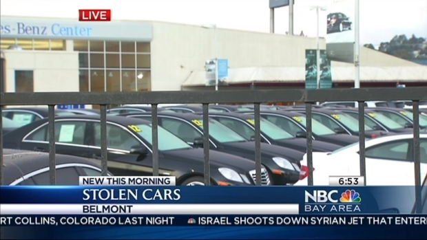 Luxury cars stolen from bay area dealerships nbc bay area for Mercedes benz dealership belmont