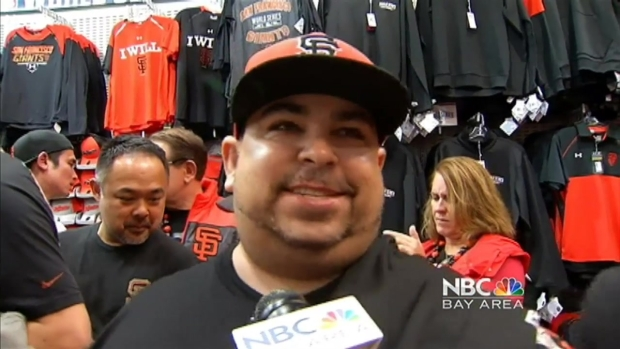 Fans Flock to Stores for Giants World Series Merchandise