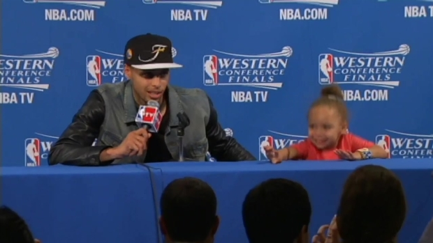 "[BAY] ""I Think She's Taking Advantage of the Moment:"" Steph Curry on Daughter's Antics"