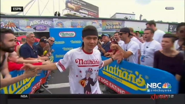 [BAY] Stonie Upsets Chestnut at NY Hot Dog Eating Contest
