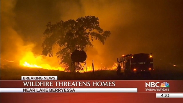 [BAY] Wragg Fire Near Lake Berryessa Prompts Evacuations
