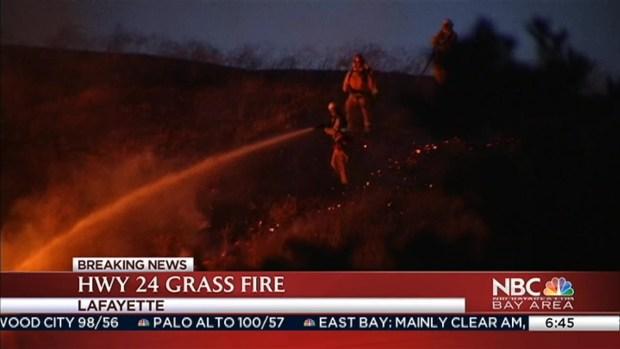 [BAY] Vegetation Fire Burns off Highway 24 Near Lafayette