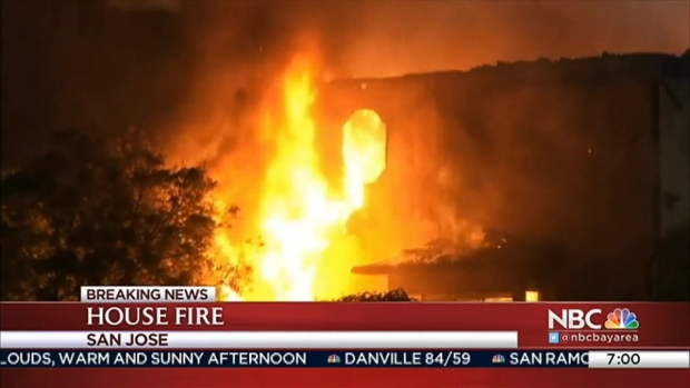 [BAY] Firefighters Battle a 2-Alarm House Fire in East San Jose For Nearly 3 Hours