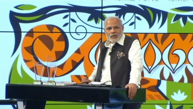 Indian Prime Minister Visits Google Headquarters