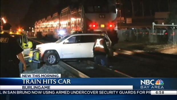 [BAY] Caltrain Strikes SUV, Woman Walks Away Unharmed