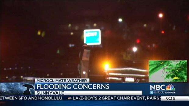 Ponding, Flooding in Sunnyvale During First Major Rain of Season