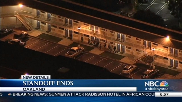 [BAY] Standoff Ends in Oakland Motel, Suspect Tied to Deadly Livermore Shooting: Sources