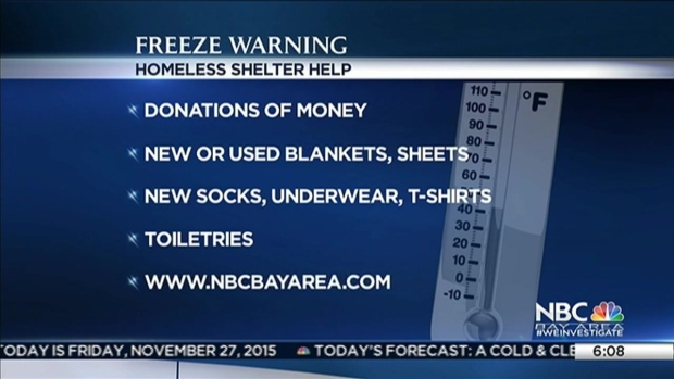 [BAY] Two Rounds of Freeze Warnings Prompts Shelters to Open For Homeless in Santa Clara County