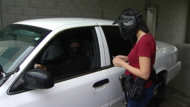 Vicky Nguyen Participates in Police Simulation